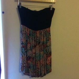 Strapless summer dress.